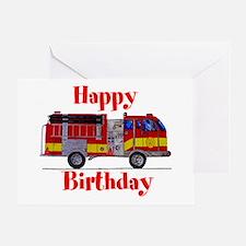 Fire Truck Birthday Card Greeting Card