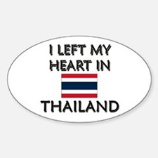 I Left My Heart In Thailand Oval Decal