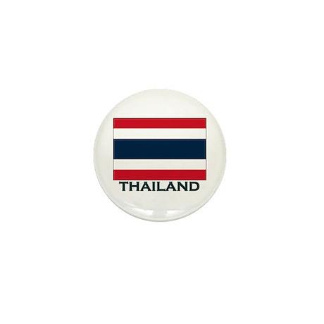 Thailand Flag Gear Mini Button