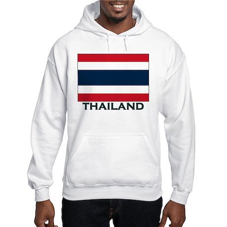 Thailand Flag Gear Hooded Sweatshirt