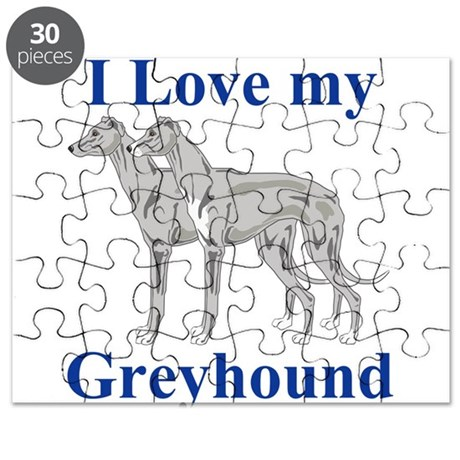 I Love My Greyhound Puzzle