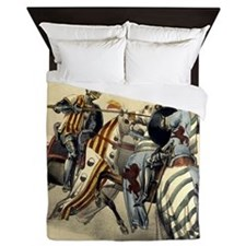 Knights Jousting Queen Duvet