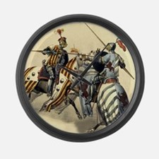 Knights Jousting Large Wall Clock