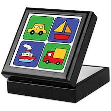 Boat & Car Squares Keepsake Box