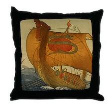 Viking Ship Throw Pillow