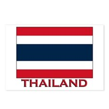 Thailand Flag Merchandise Postcards (Package of 8)