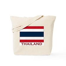 Thailand Flag Merchandise Tote Bag