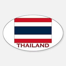 Thailand Flag Merchandise Oval Decal