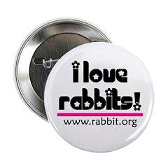 I love Rabbits! Button