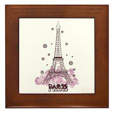Eiffel Tower Framed Tile