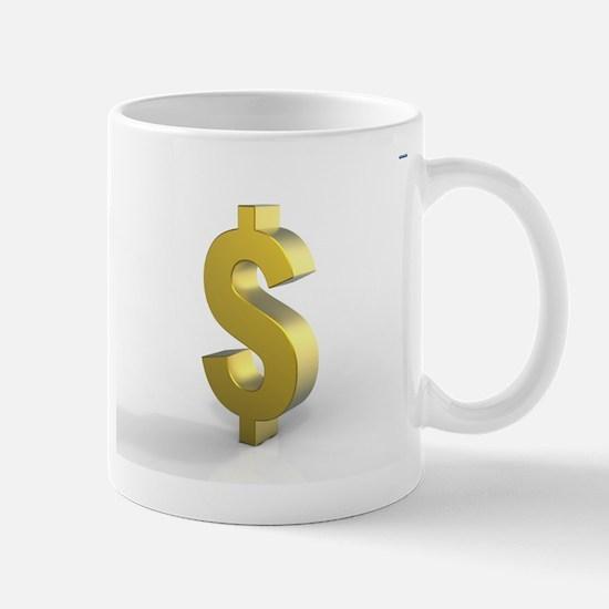 Gold Dollar SIgn Mug
