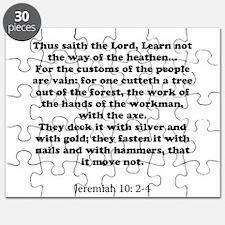 Jeremiah 10: 2-4 Puzzle