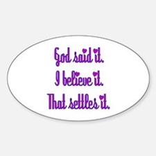 God Said It Purple Decal