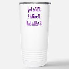 God Said It Purple Travel Mug
