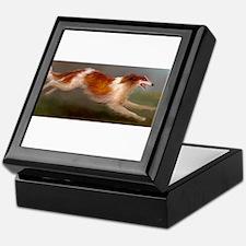 Running Borzoi/Russian Wolfhound Keepsake Box