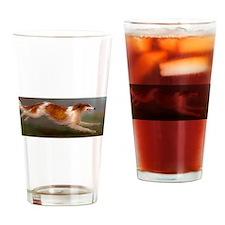 Running Borzoi/Russian Wolfhound Drinking Glass