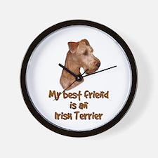 My best friend is an Irish Terrier Wall Clock