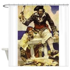 Blackbeard Pirate Shower Curtain