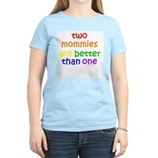 two mommies Women's Pink T-Shirt