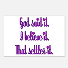 God Said It Purple Postcards (Package of 8)