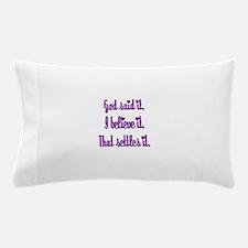 God Said It Purple Pillow Case