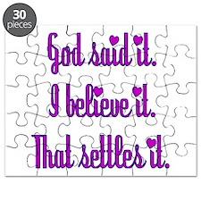 God Said It Purple Puzzle