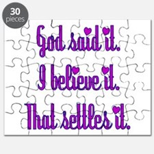 God Said It Purple Puzzle