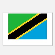 Tanzania Flag Picture Postcards (Package of 8)