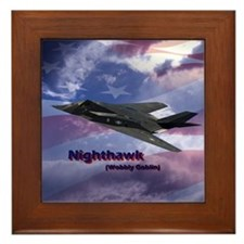 Stealth Fighter Framed Tile