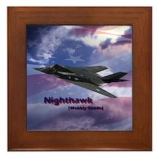 Stealth Fighter Framed Tile