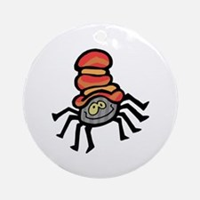Cute Dancing Little Spider Ornament (Round)