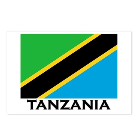 Tanzania Flag Stuff Postcards (Package of 8)