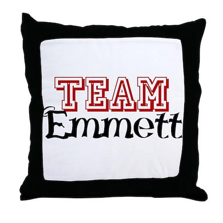 Team Emmett Throw Pillow