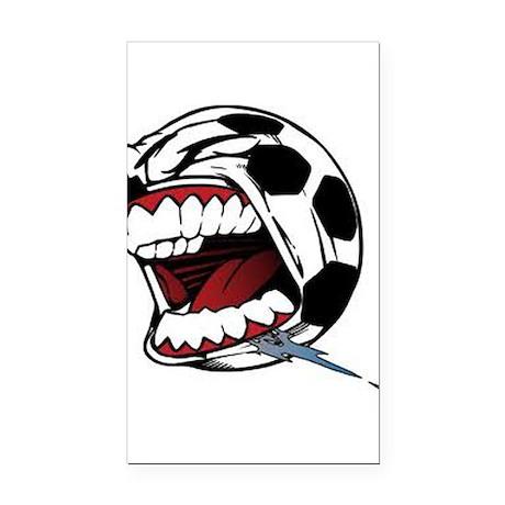 Screaming Soccer Ball Rectangle Car Magnet