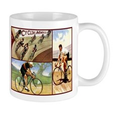 Vintage Cycling Cyclists Mug