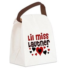 2-lilmisslautner.png Canvas Lunch Bag