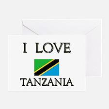 I Love Tanzania Greeting Cards (Pk of 10)