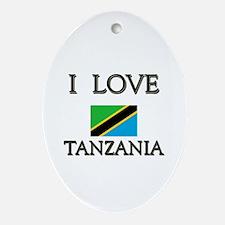 I Love Tanzania Oval Ornament