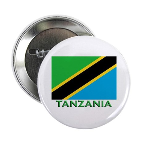 Tanzania Flag Merchandise Button