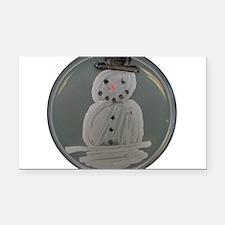 Snowman Rectangle Car Magnet