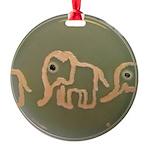 Pink Elephants Round Ornament
