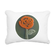 Red Rose Rectangular Canvas Pillow