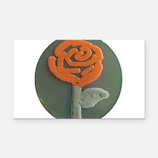 Red Rose Rectangle Car Magnet