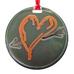 Heart Round Ornament