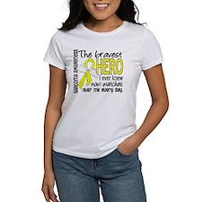 Bravest Hero I Knew Sarcoma Gifts Tee