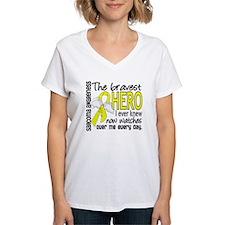 Bravest Hero I Knew Sarcoma Gifts Shirt