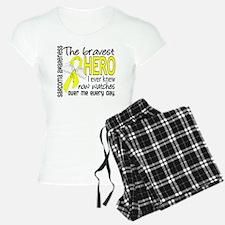 Bravest Hero I Knew Sarcoma Gifts Pajamas