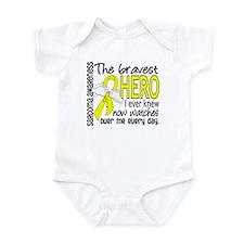 Bravest Hero I Knew Sarcoma Gifts Infant Bodysuit