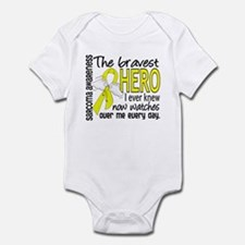 Bravest Hero I Knew Sarcoma Gifts Infant Bodysuit