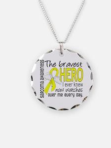 Bravest Hero I Knew Sarcoma Gifts Necklace
